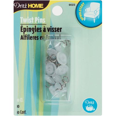 Dritz 103416 Upholstery Decorative Twist Pins 10-Pkg-Clear