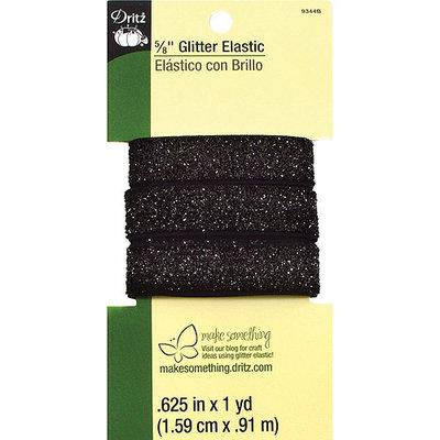 Dritz Glitter Elastic 1 Yard - Black