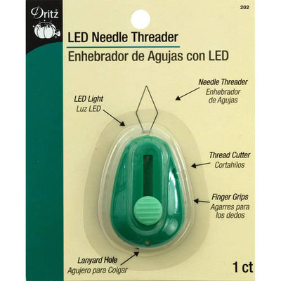 Dritz LED Lighted Needle ThreaderGreen