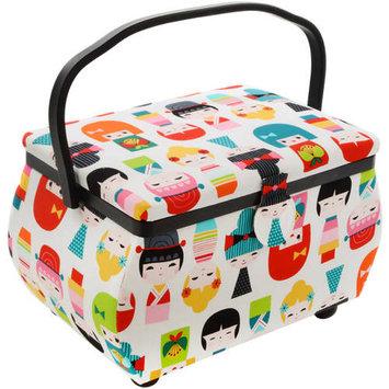 Prym Sewing Basket Rectangle 12.75inX7.625inX7.75in Doll Print