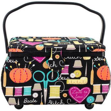 Prym Sewing Basket Rectangle 12.75inX7.625inX7.75in Sewing Notions