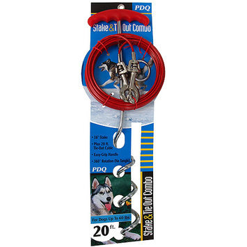Warren Pet Products 01316 Tieout Stake & Cable, 15 feet