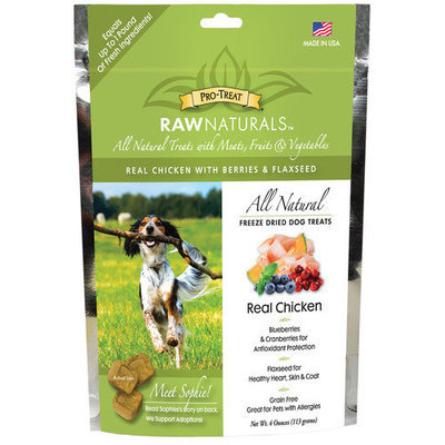 Gimborn Pro-Treat Raw Naturals Chicken Freeze Dried Dog Treats (4 oz.)