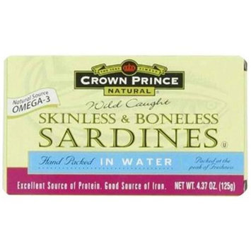 CROWN PRINCE Sardines Skinless Boneless 4.37 OZ
