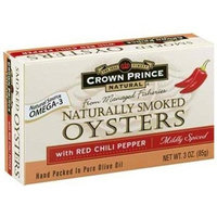 Crown Prince Naturally Smoked Oysters with Red Chili Peppers Mildly Spiced - 3 oz
