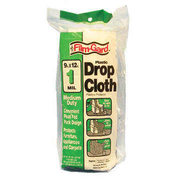 Poly America DCHK-1 Drop Cloth - 9 x 12' ~ 1 Mil