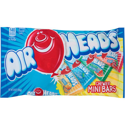 Airheads Chewier Mini Bars Candy, 10 oz