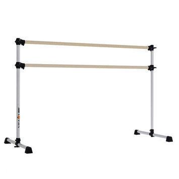 Vitavibe Prodigy Series Tradtional Wood Double Bar Ballet Barre-n-Bag Kit Size: 5 ft.