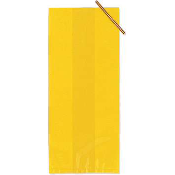 Creative Converting 236640 Yellow Treat Bags- 20 count