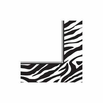 Creative Converting 201348 Animal Print Zebra Lunch Napkins