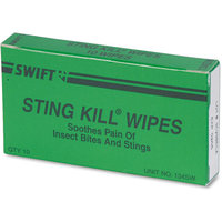 PhysiciansCare First Aid Sting Relief Pads, Box of 10