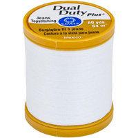 Coats: Thread & Zippers Dual Duty Plus Jean & Topstitching Thread 60yd-White