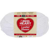 Coats: Yarn NOTM116073 - Red Heart Luster Sheen White Yarn