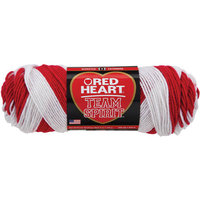 Red Heart Team Spirit Yarn-Black/Gray