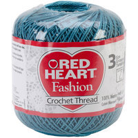 Aunt Lydia's Red Heart Fashion Crochet Thread Size 3-Warm Teal
