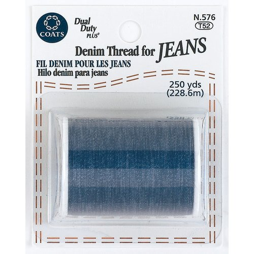 Coats & Clark Coats - Thread & Zippers 24800 Denim Thread For Jeans 250 Yards-Blue