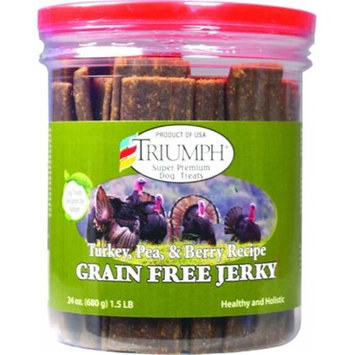 Triumph Turkey, Pea, & Berry Jerky - 24 oz