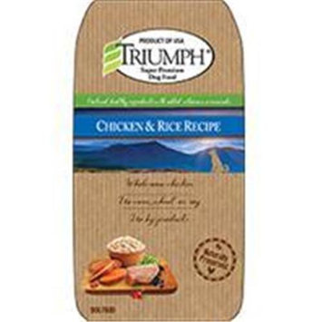 Triumph Pet-sunshine Mill Triumph Pet Industries-Triumph Chicken And Rice Dog Food 3.5 Pound 00873
