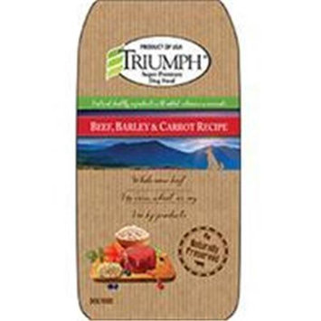 Triumph Pet-sunshine Mill Triumph Pet Industries-Triumph Beef Barley And Carrot Dog Food 30 Pound 00878