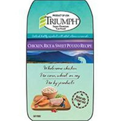 Triumph Pet-sunshine Mill Triumph Pet Industries-Triumph Chicken Rice And Sweet Potato Cat Food 7 Pound 00885
