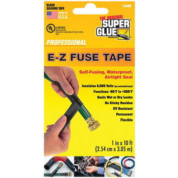Super Glue Corporation Super Glue 15408 E-z Fuse Silicone Tape 10 Ft