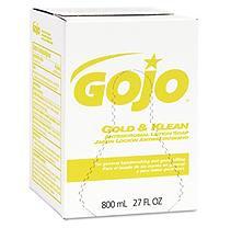 GO-JO INDUSTRIES 912712 Gold & Klean Lotion Soap Bag-in-box Dispenser Refill Fresh Liquid 800ml