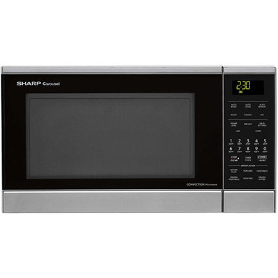 Sharp Carousel 0.9 Cu. Ft. 900W Countertop Convection Microwave Oven Finish: Stainless Steel