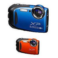 FUJIFILM FinePix XP70 16.4MP CMOS Waterproof Camera with 5x Optical Zoom - Blue