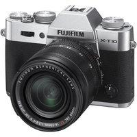 Fujifilm X-T10 Mirrorless Digital Camera Body, with XF 18-55mm F2.8-4 R LM OIS Lens, Silver