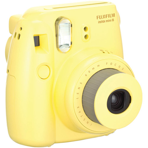 Fujifilm Instax Mini 8 Camera - Yellow - Instant Film - Yellow