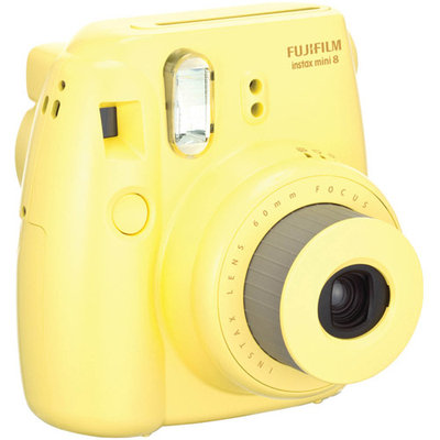Fujifilm Instax Mini 8 Camera - Yellow - Instant Film - Yellow