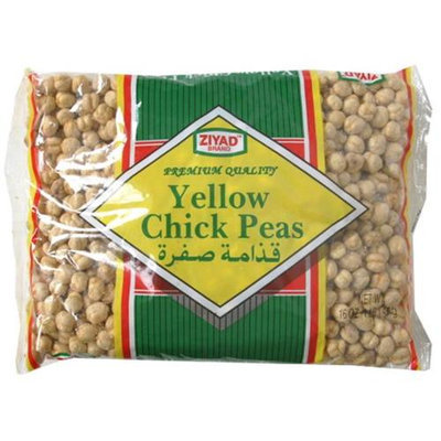Ziyad Yellow Chick Peas 12 Oz Pack Of 6