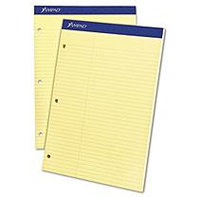 Ampad 20245 Evidence Dual Ruled Pad Law Rule 8-1/2 x 11-3/4 Canary 100 Sheets