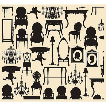 7 Gypsies 'Creme Silhouettes' Tissue Paper (Pack of 4)