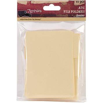7 Gypsies 7G17989 ATC Tabbed File Folders 3X3.75 12/Pkg