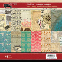 7 Gypsies 7G19507 Maritime Double-Sided Paper Pad 6 in. X6 in. 48-Sheets-6 Designs-8 Each