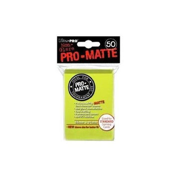 Ultra Pro Pro-Matte Bright Yellow Deck Protector ULP84149