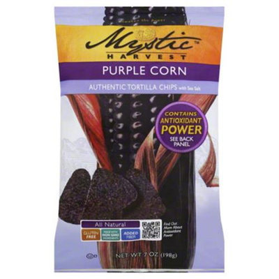 Mystic Harvest Tortilla Chips Authentic Purple Corn 7 Oz Pack Of 16