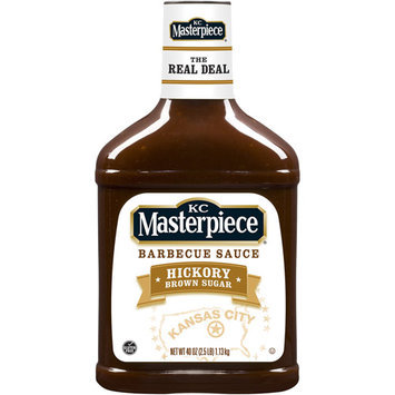 KC Masterpiece Barbecue Sauce, Hickory Brown Sugar, 40 Ounces