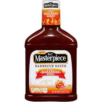 KC Masterpiece Fiery Habanero Honey Barbecue Sauce, 40 oz
