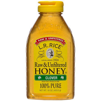 Rices Honey L.R. Rice 100% Pure, Raw & Unfiltered Clover Honey, 16 oz