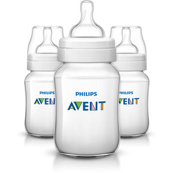 Philips AVENT Classic+ 9-Ounce Bottle, BPA-Free, 3-Pack