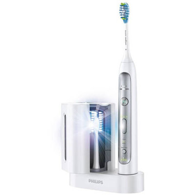 Philips Sonicare Flexcare Platinum Electric Toothbrush With Uv Sanitizer White