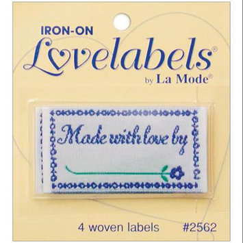 Blumenthal Lansing Iron-On Lovelabels 4/Pkg-Made With Love By