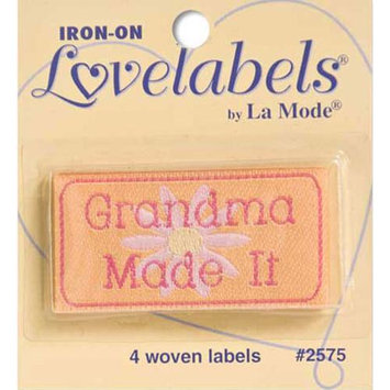 Blumenthal Lansing 2500-2575 Iron-On Lovelabels 4/Pkg-Grandma Made It