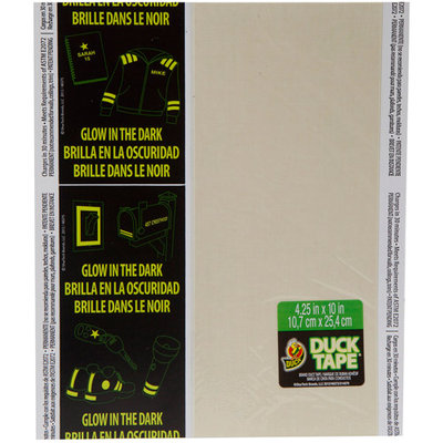 Shurtech Glow In The Dark Duck Tape Sheets 8.5