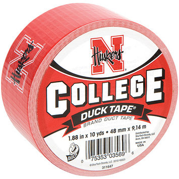 Shurtech 483370 College Logo Duck Tape 1.88 in. Wide 10 Yard RollNebraska