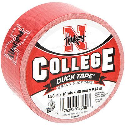 Shurtech 483370 College Logo Duck Tape 1.88 in. Wide 10 Yard RollNebraska
