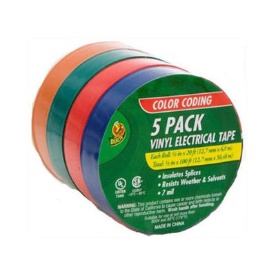 Shurtech 299020 Electrical Tape - Assorted Colors, 5 Pak ~ 1/2