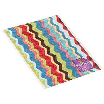 ShurTech FSHT-2672 Fabric Sheet 8 in. X10 in. -Wavy Multistripe